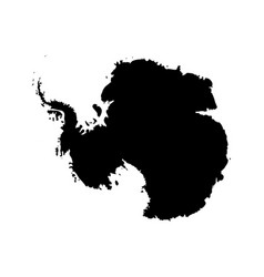 silhouette map af antarctica high detailed black vector image vector image