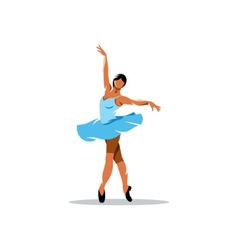 Ballerina sign vector image