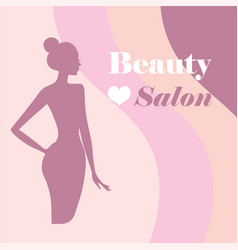 beauty logo template background with beautiful vector image