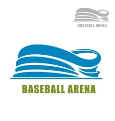 Blue round baseball stadium icon vector image