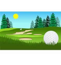 Golf fairway shot vector image