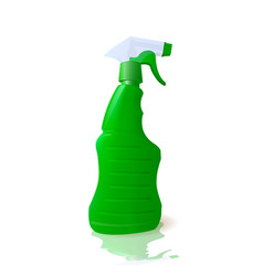 Household cleaner in a container with spray vector