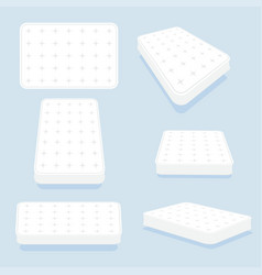 mattress in all positions set vector image