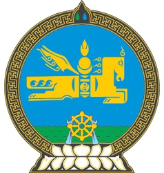 Mongolia Coat-of-Arms vector image vector image