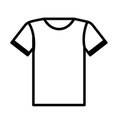 t-shirt uniform team icon vector image vector image