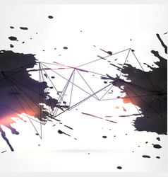 abstract black ink grunge background vector image