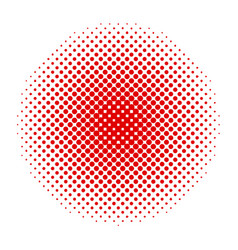abstract dotted background red halftone vector image
