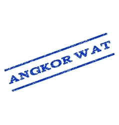 Angkor wat watermark stamp vector
