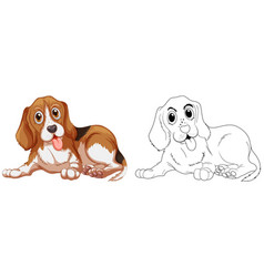 Animal outline for little dog vector