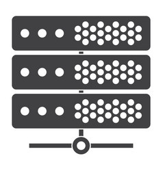 big data or server icon vector image
