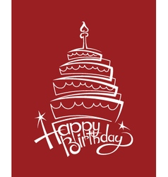 birthday cake image vector image