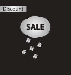 Black and white style icon sale gift rain vector