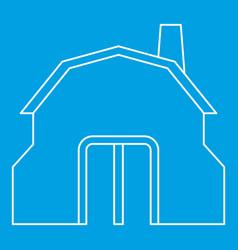 blacksmith workshop building icon outline vector image