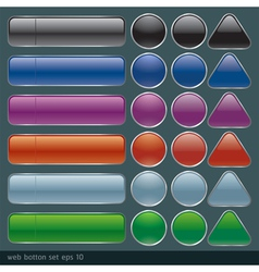 Blank buttons for website and application vector image