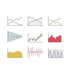 Business data graph analytics vector image