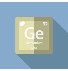 Chemical element Germanium Flat vector image