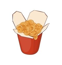Chinese noodles box icon cartoon style vector image