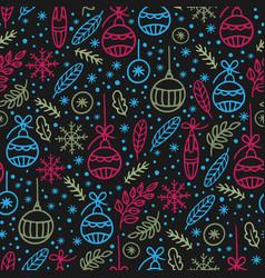 christmas abstract hygge hand drawn seamless vector image