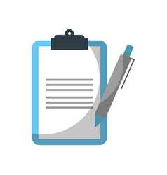 clipboard checkliast with write pen work element vector image