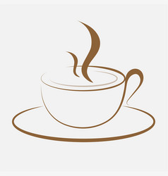 coffee sihouette logo for coffee shopcoffee logo vector image
