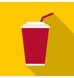 Cola icon flat style vector