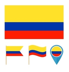 Colombia country flag vector image