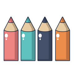 colored pencils icon cartoon style vector image