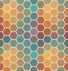 Colored seamless hexagon texture vector image