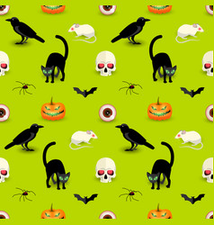 colorful halloween seamless pattern vector image