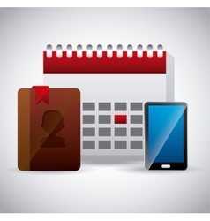 Contact manager app vector