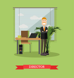 creative director in flat vector image