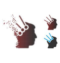Damaged pixel halftone neural interface connectors vector