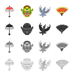 Design of and travel icon collection of vector