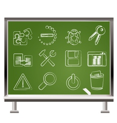 Develop and programming icons vector