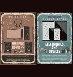 electronics and smart device online store vector image