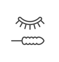 eyelash painting line icon vector image