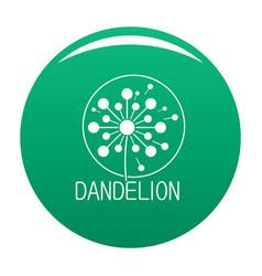 Faded dandelion logo icon green vector