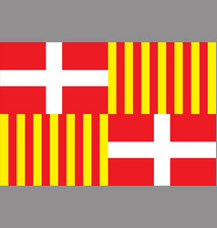 Flag of bonneville in haute-savoie of vector