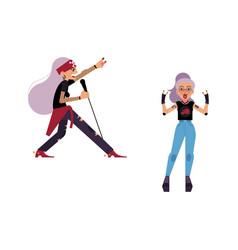 flat elderly rock women set vector image