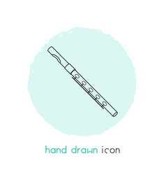 flute icon line element of vector image