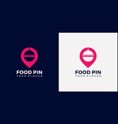 food pin logo premium vector image