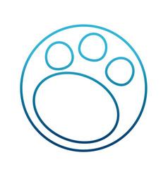 footprint animal symbol vector image