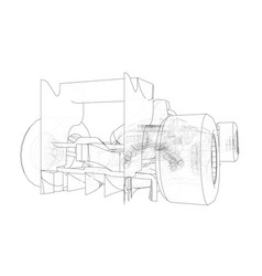 Formula 1 car abstract drawing tracing vector
