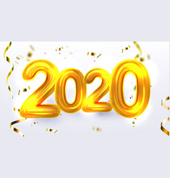 Golden 2020 new year xmas party banner vector