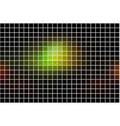 Green brown yellow black square mosaic background vector