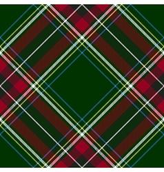 Green red diagonal check tartan textile seamless vector