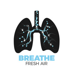healthy lungs icon vector image