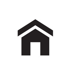 home - black icon on white background vector image