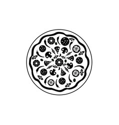 icon pizza isolated on white background food vector image