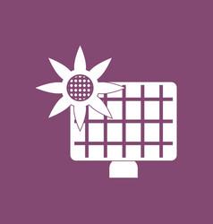 Icon solar battery vector
